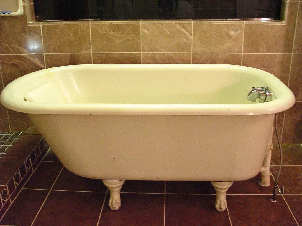 My baby claw bathtub | This is my antique baby claw bathtub.… | Flickr