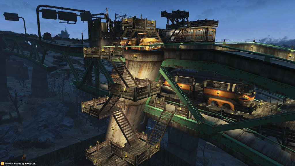 fallout 4 base building graygarden 02 night views are flickr