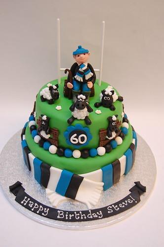 Bath Rugby Sheep Farmer Cake Beautiful Birthday Cakes