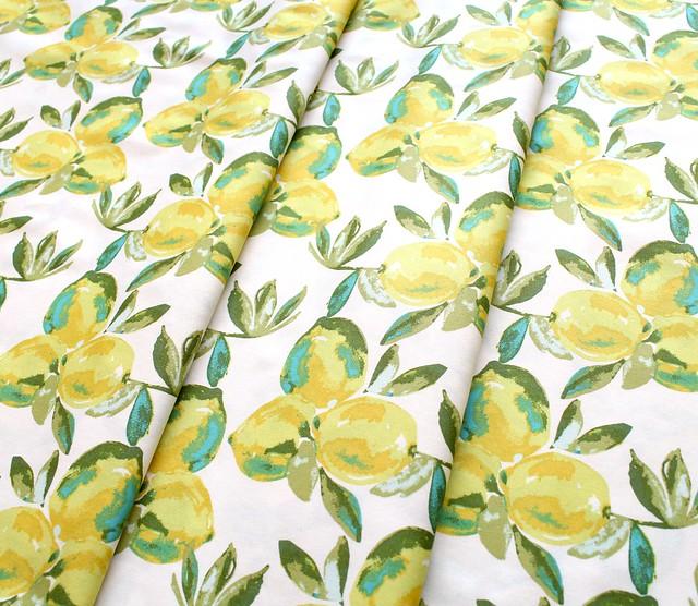 Art Gallery Fabrics Sage Yuma Lemons Mist