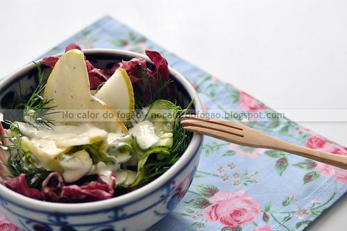 Salada de Abobrinha, Pera e Endro