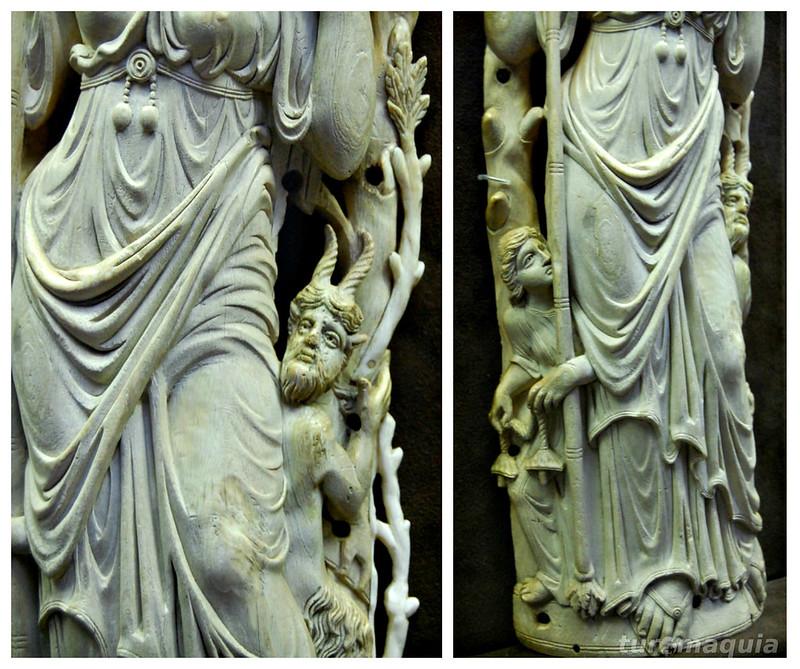 Escultura talhada no dente de elefante