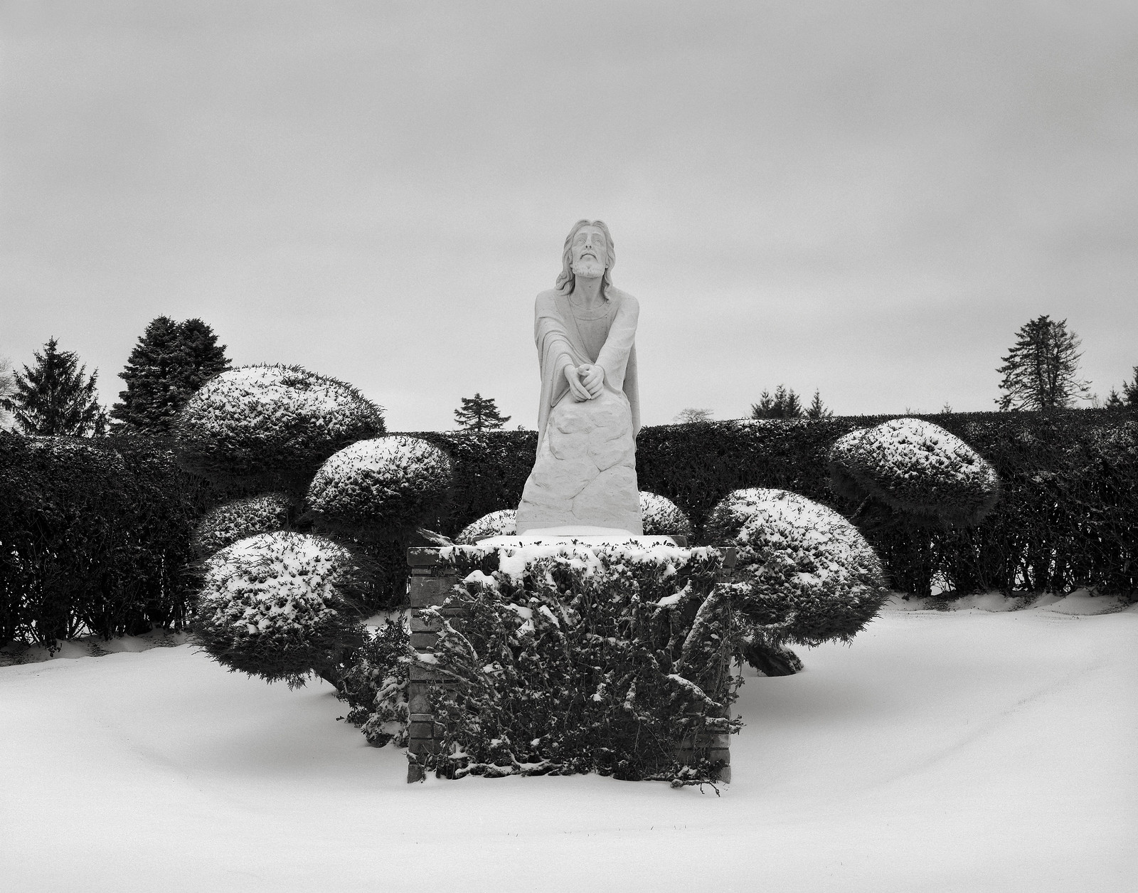 Jesus in the Snow, Portland | by austin granger