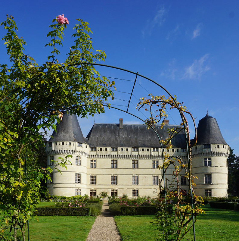 Castle through the garden