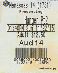 The Hunger Games: Mockingjay Part 2 ticketstub