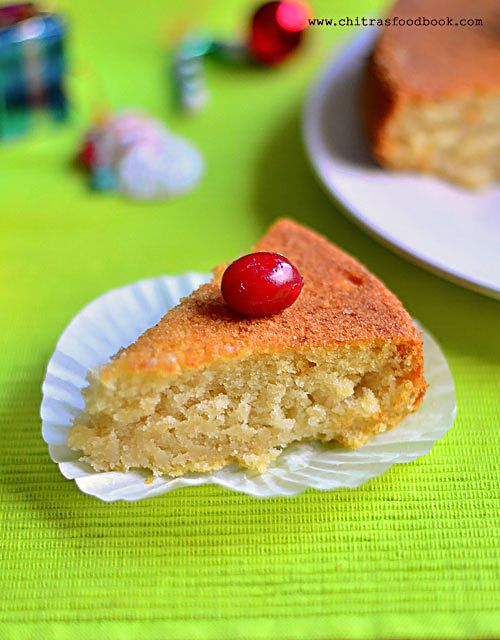 Eggless vanilla cake using gulab jamun mix