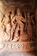 Cave 1. Bringu Maharishi, Shiva and Parvathi