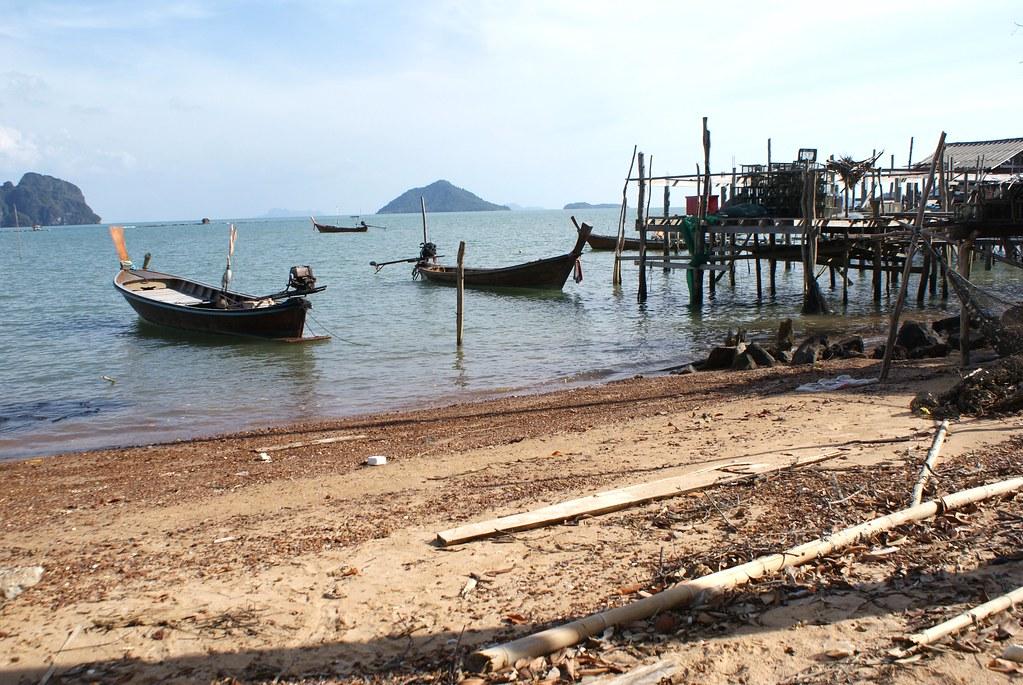 Village de pêcheurs sur l'île de Koh Lanta Noi.