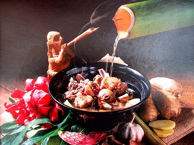 Anak Borneo pansoh manok 1