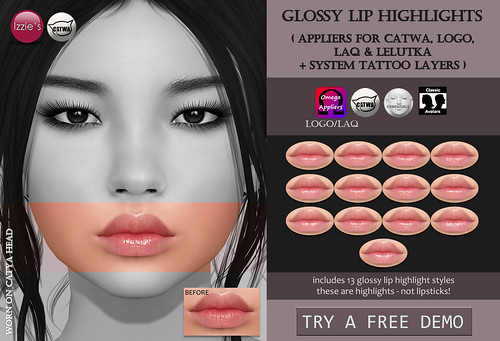 Glossy Lip Highlights (Skin Fair) | by Izzie Button (Izzie's)