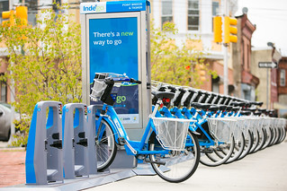 Smart Dock Station on Sidewalk - Indego | by NACTO Photos