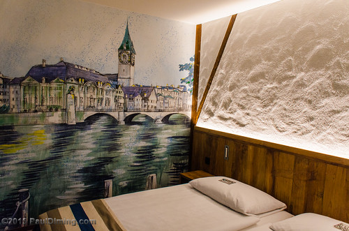 Our Room with a Mural @ Hotel Adler, Zurich, Switzerland | by Paul Diming