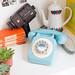 retro blue 60s phone