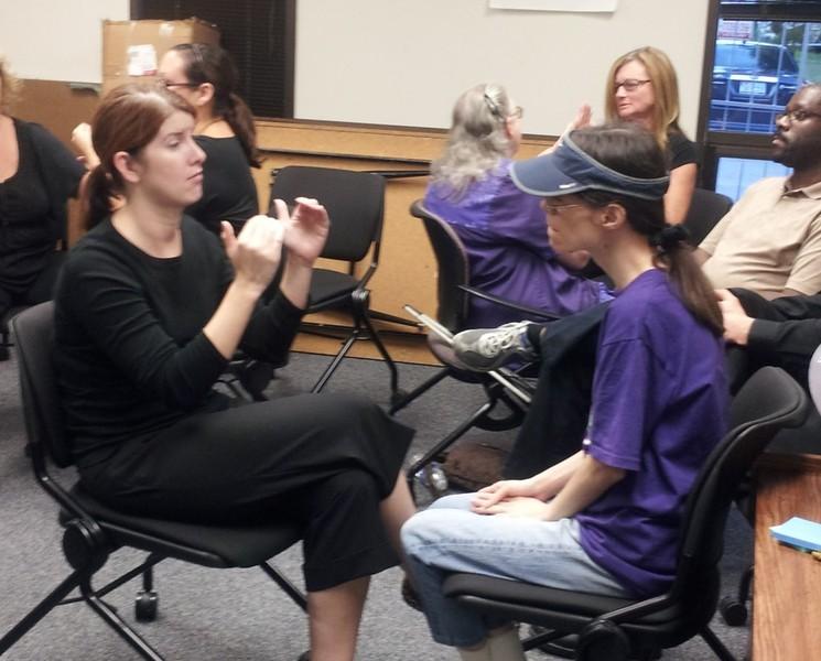 Deaf Self Advocate Training (DeafBlind Class)