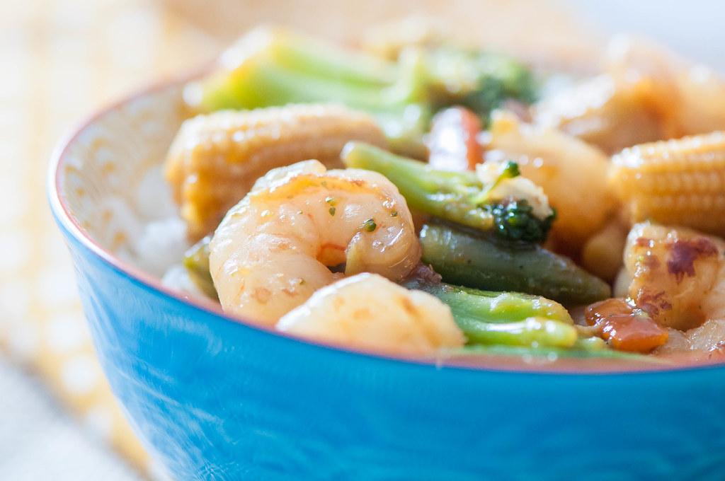 Simple Shrimp Stir Fry 6