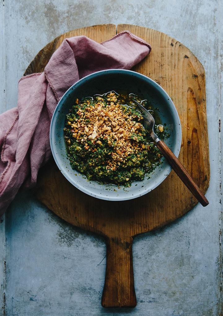 Green Goddess Buckwheat Salad w/ Tamari Glazed Sweet Potato & Grapes | Cashew Kitchen