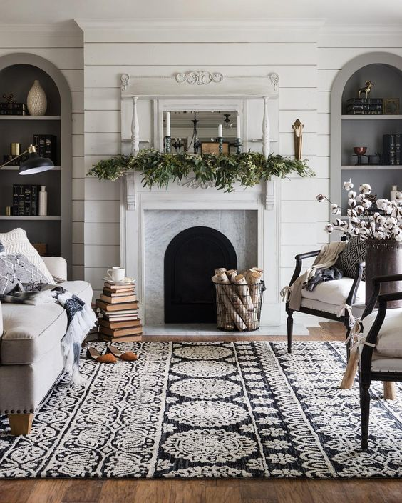 winter-mantel-greenery-and-taper-candles