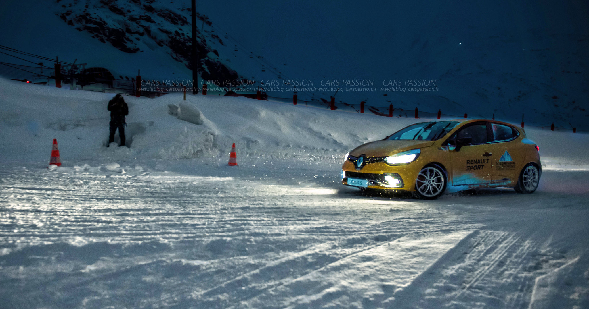 Ice Driving à Val Thorens avec Renault Sport