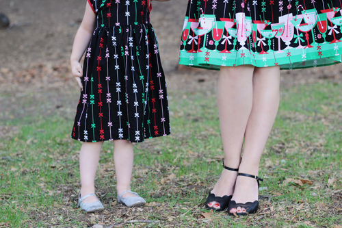 Heart of Haute Elizabeth Dress in Holiday Cheers Print Ava Adorable Enchanted Child Dress in Holiday Cheers Print