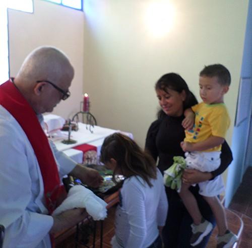 Baptism of Anyelimar Mesa Ruiz.