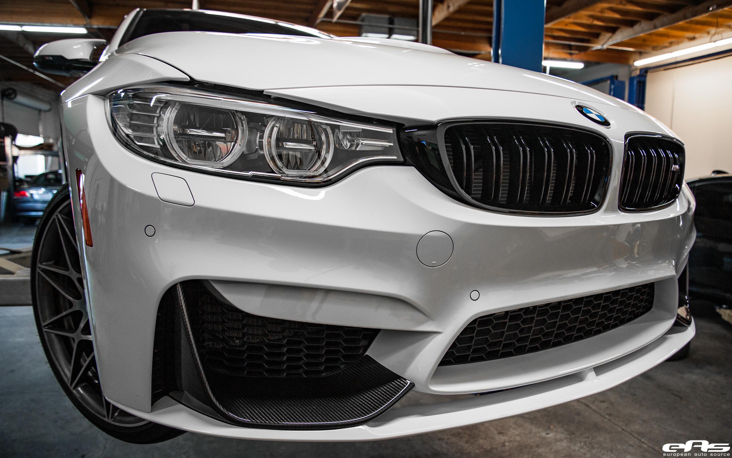 ec7a6d39c49 Alpine White F82 M4 Competition - M Performance Carbon Fiber Front Splitters