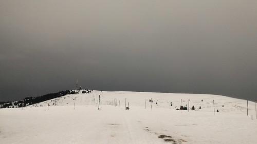 Feldbergturm views - Winter hike in Feldberg area, Black Forest, Baden, Germany