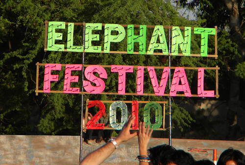 Jaipur Elephant Festival Sign