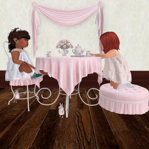 Having a tea party