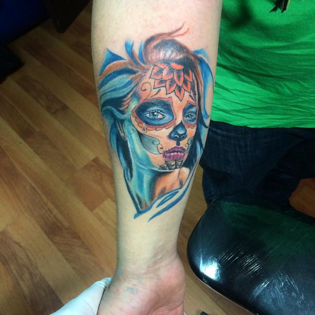 Catrina Tattoo Tatuaje Colorful Colorfull Chiletatto Flickr