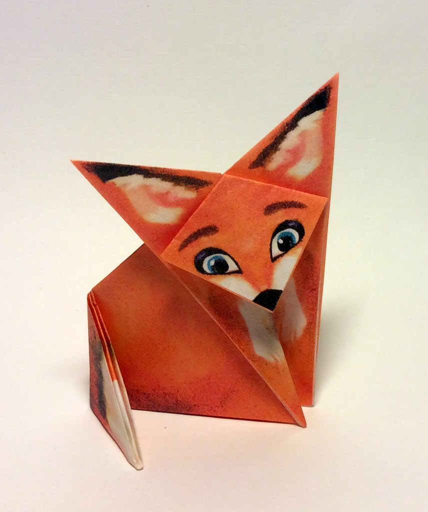 Origami Fox Download And Print The Paper For This Very Eas Flickr