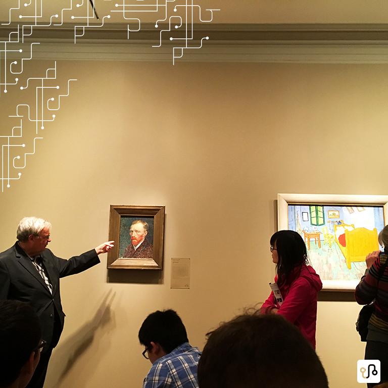 Dois hits do Art Institute: Auto retrato e a segunda versão do quarto de Van Gogh