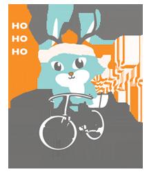 Chow Vegan Reindeer Bunny Logo