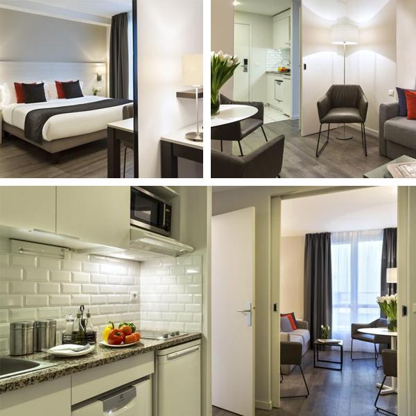 Habitaciones del hotel Citadines Montmartre en Paris