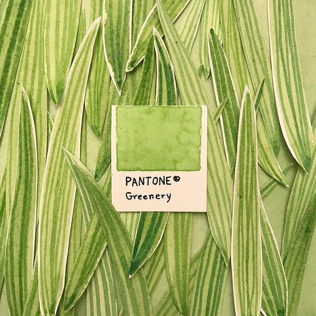 Ask me how excited I was when I read that 2017's #pantone color of the year was #greenery. Green is my favorite color and I love that @aisforanika used it for a daily topic.