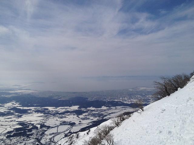 伊吹山 表登山道 7合目より琵琶湖