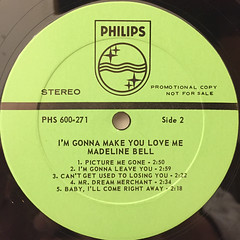 MADELINE BELL:I'M GONNA MAKE YOU LOVE ME(LABEL SIDE-B)