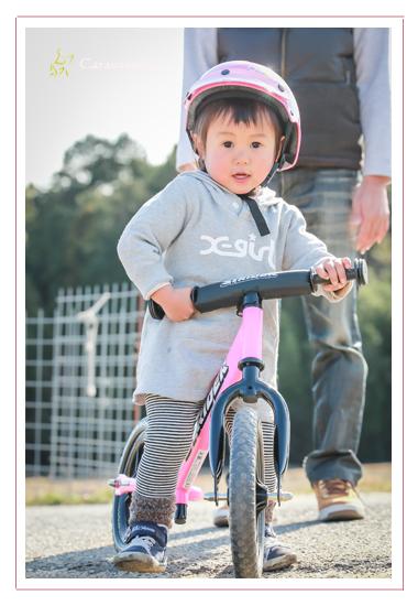 ストライダー 誕生日記念の家族写真 愛知県豊田市 愛知県緑化センター・昭和の森 市民農園(畑) 人気 オススメ 自由な子供の写真 男の子 女の子 データ