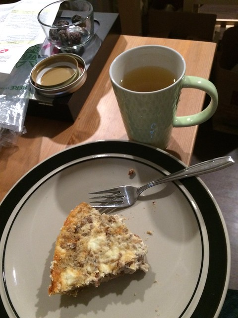 No, I did not manage to clean the table before sitting down to tea and a slice of quiche. But I HAD tea and a slice of quiche, which is far more important.