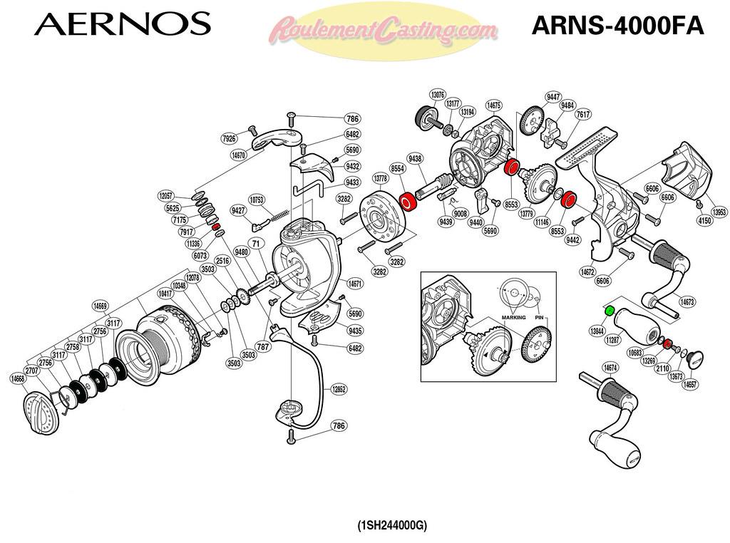 Schema-Shimano-AERNOS-4000FA | roulementcasting.com/schema-s… | Flickr