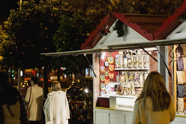 Mercadillo navideño en Sevilla