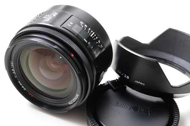 二手鏡頭 香港 . . . Minolta 红字AF 24mm f2.8 鏡片95新 對焦準夾快 發色豐富自然 好評如潮