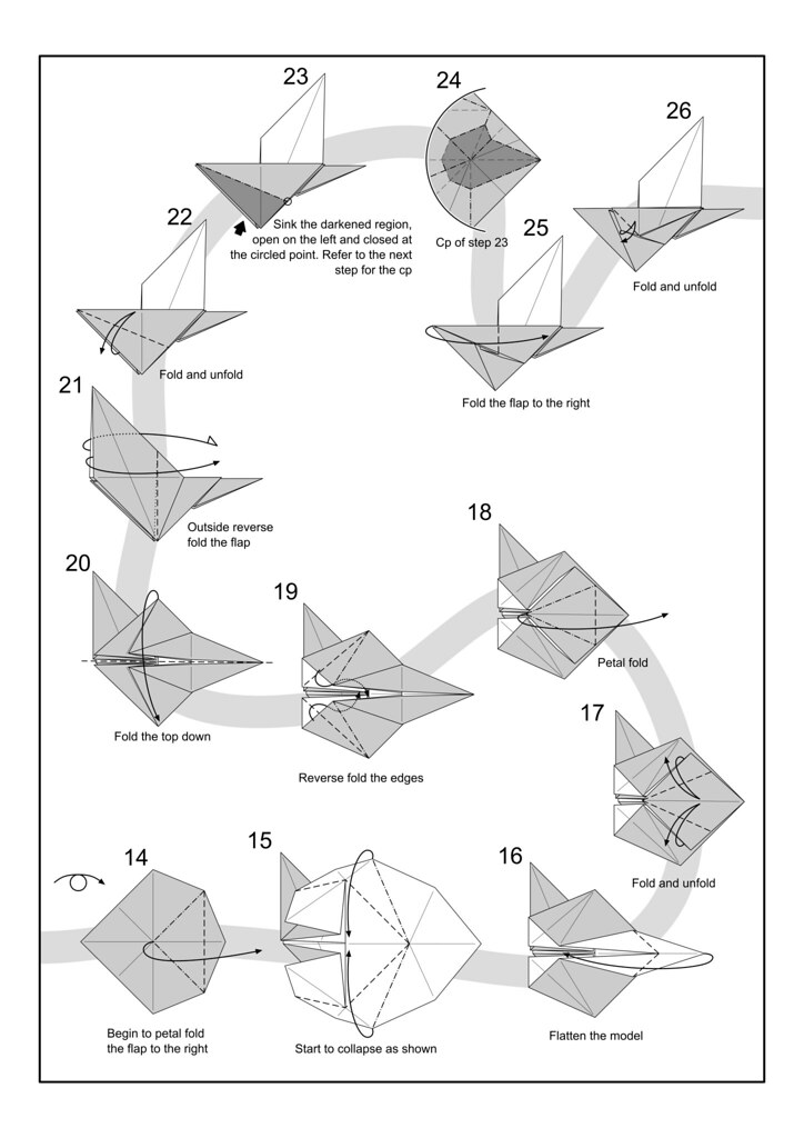 Snail Diagram Page 2 I Am Starting An Origami Diagram Grou Flickr