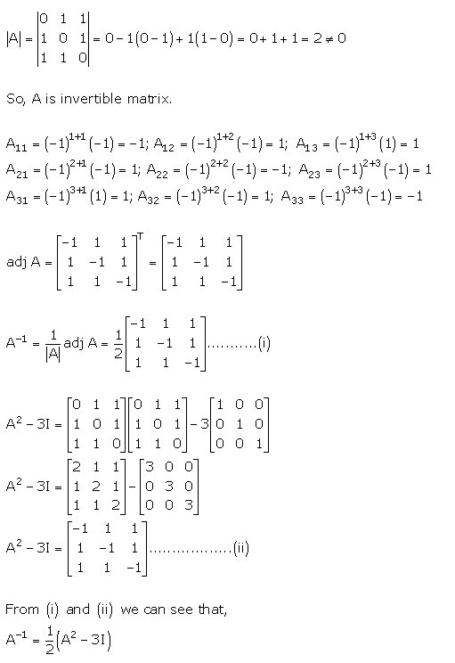RD Sharma Class 12 Solutions Chapter 7 Adjoint and Inverse of Matrix Ex 7.1 Q 39
