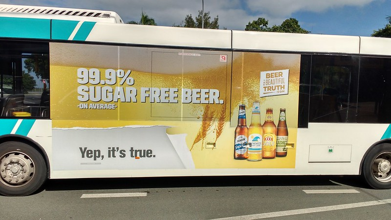 bus advert in mackay