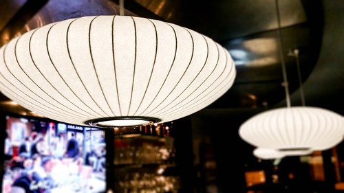 new lamps at Jet Wine Bar. Photo by Tom Ipri
