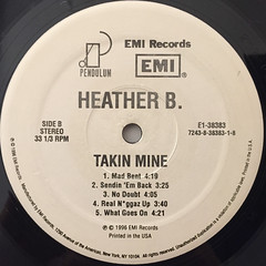 HEATHER B.:TAKIN MINE(LABEL SIDE-B)