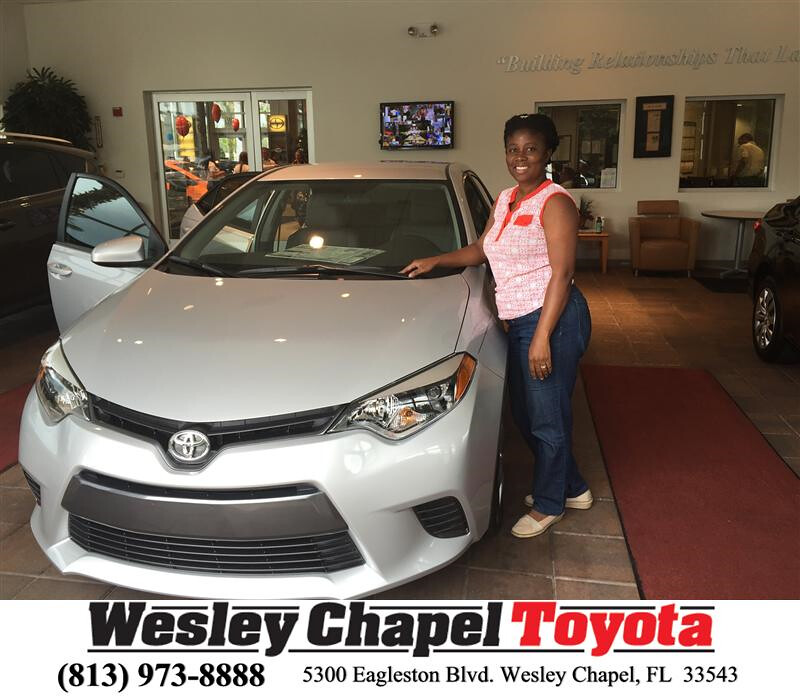 Congratulations Laurette On Your Toyota Corolla From Arm
