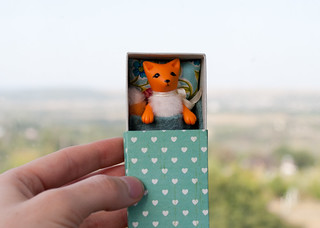 fox in a matchbox with hearts | by free_dragonfly