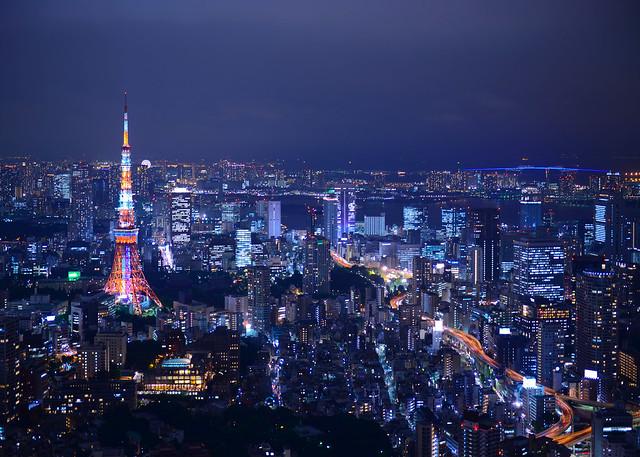 La impresionante hora mágica desde el Mirador de la Mori Tower de Tokio en Japón de los lugares más maravillosos que ver de Japón