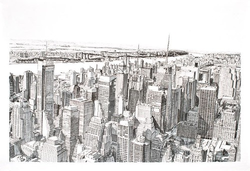 Line Drawing Nyc : Prints of this illustration new york will be available